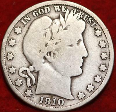 1910 Philadelphia Mint Silver Barber Half Dollar !