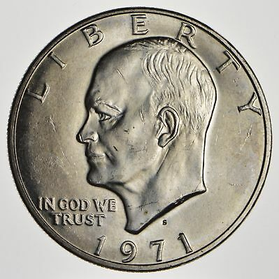 Silver - SPECIALLY MINTED - 1971-S - 40% Eisenhower Silver Dollar - RARE *828