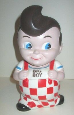"Vintage Bob's Big Boy Restaurant 8"" Advertising Character Mascot Vinyl Coin Bank"