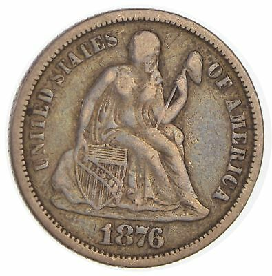 1876 Seated Liberty Silver Dime *157