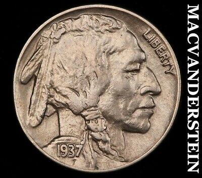 1937-S Buffalo Nickel- Lustrous !! Scarce !! High Grade !! #y9529