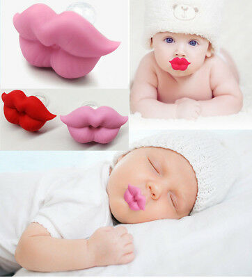 Cute Silicone Kids Infant Baby Pacifier Nipple Funny Big Lip Children Soother