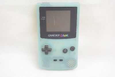 JUNK Nintendo Game Boy Color ICE BLUE Console CGB-001 Not Working Ref/41232 gb