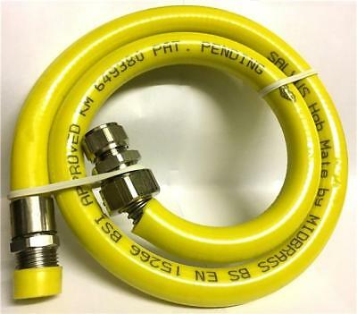 Salvus Gas Hob Mate Hose Male Connecting 1m 1/2""
