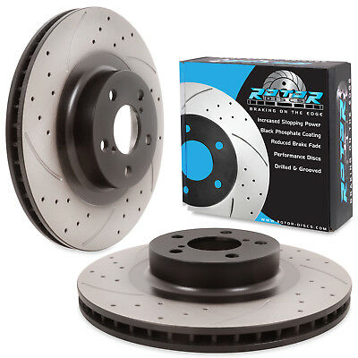 FRONT DRILLED GROOVED 294mm BRAKE DISCS PAIR FOR TOYOTA GT86 GT-86 DRIFT TRACK