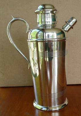 Art Deco Carrington Silver Plated Cocktail Shaker