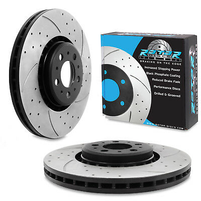 FRONT DRILLED GROOVED 336mm BRAKE DISCS FOR VOLVO S80 2.4D XC90 3.0 T6 2.4 D5