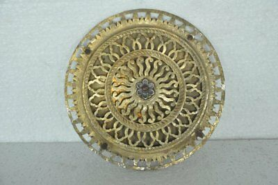 Old Brass Fine Handcrafted Jali Cut Round Unique Shape Wall Hanging