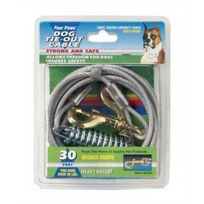 2 Pack Deal - Four Paws - Heavy Weight Tie-out Cable Silver 30' - Tie Out Heavy