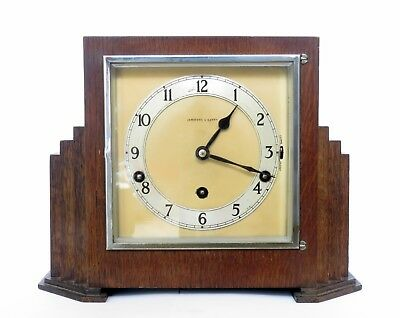 Quality Art Deco Garrard Westminster Quarter Chiming Oak Mantel Clock, Serviced
