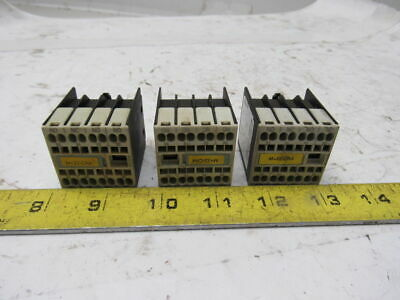Siemens 3RH1911-2FA31 10A 240V Auxiliary Contact Lot Of 3
