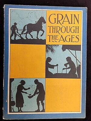 1933 Advertising Book Grain Through The Ages Hallock Quaker Oats Chicago IL