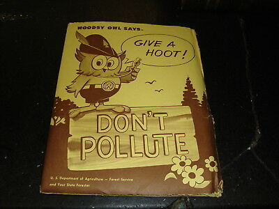 Woodsy Owl Give A Hoot Don't Pollute,1971, Folder,Woodsy Owl,Etc,US Forestry