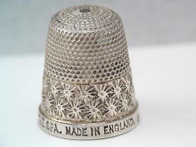 Rare Antique English Sterling Silver Sewing Thimble H.G.& S.