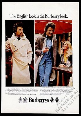 1974 Burberrys trench coat Lord Lichfield Charlotte Anne Curzon photo print ad