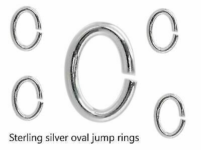 925 Solid Sterling Silver Oval open Jump Rings 4mm - 10mm