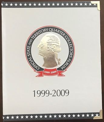 New! 1999-2009 CSN Official State and Territory Quarter Collectors Album *jd