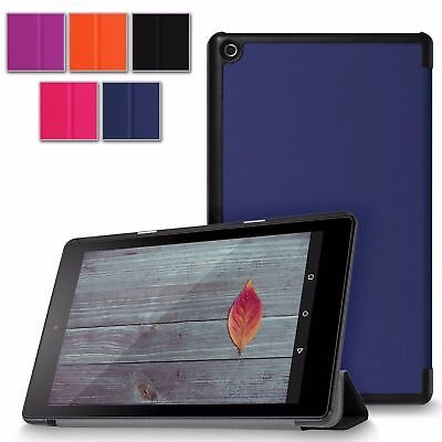 For Amazon Kindle Fire HD 8 inch 2016 Ultra Slim PU Leather Case Smart Cover