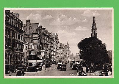 Vintage postcard. Princess Street, Edinburgh