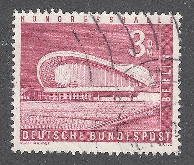 GERMANY, BERLIN STAMP #9N136 — 3m HIGH VALUE -- 1958 -- USED