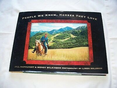 People We Know Horses They Love Rapport Wilkinson Horse Book