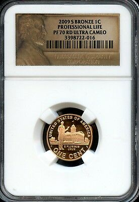 Excellent 2009-S PF 70 RD Ultra Cameo NGC Professional Life Bronze 1c Coin EG384