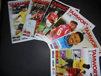 2017/18 Tamworth Home Programmes Choose From