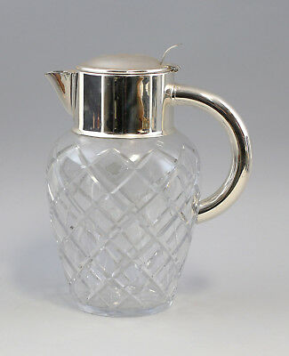 8135039 Cold Duck Carafe Crystal Glass with Silver Plated Mounting