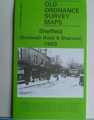 Old Ordnance Survey Map Sheffield Ecclesall Rd & Sharrow Yorkshire 1903 Godfrey