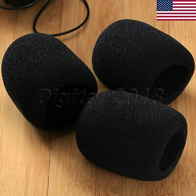 5Pcs/Set Black Microphone Sponge Shield Foam Pop Filter Mic Cover Wind Shield
