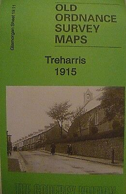 Old Ordnance Survey Detailed Maps Treharris Glamorgan 1915 Godfrey Edition New