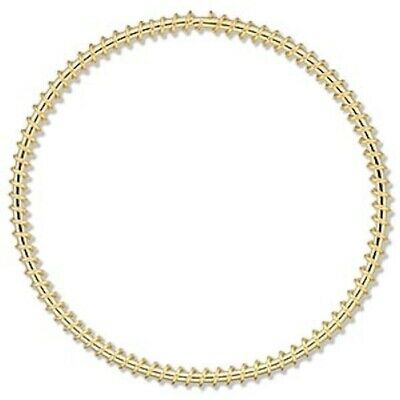 100 Gold Plated Steel Wire Wrapped 55mm Round Components *