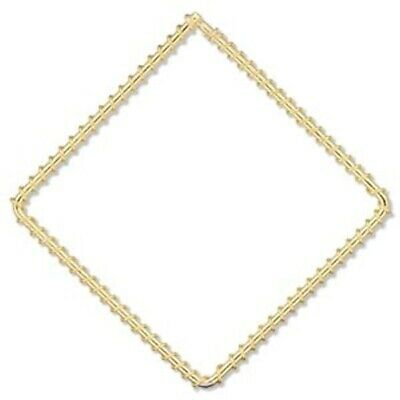 100 Gold Plated Steel Wire Wrapped 65x65mm Diamond Components *