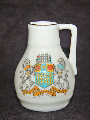 Vintage Wh Goss Crested China - City Of Westminster Jug