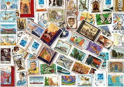 A Lovely Mix Of Mostly Drachma Commemorative Stamps From Greece