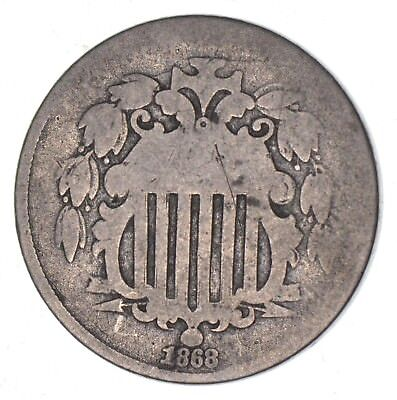 1st US Nickel - 1868 - Shield Nickel - US Type Coin - Over 100 Years Old! *609