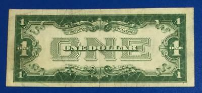 "1928A $1 Blue ""FUNNY BACK"" SILVER Certificate X160 Old US Paper Currency"