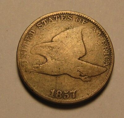 1857 Flying Eagle Cent Penny - Good Condition - 15FR-2
