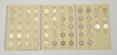 Complete 1999-2008 State Quarter US Coin Collection - Nice Album - 50 Coins *098