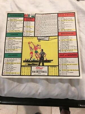 1970 Kellogg's Major League Basketball Game Folded Was Used With Playing Cards