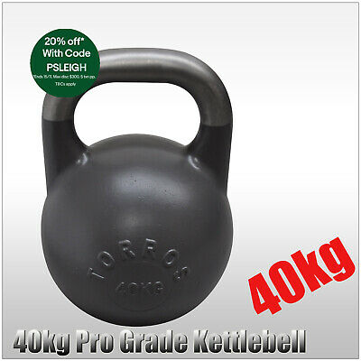 24kg TORROS Pro Grade Kettlebell Weight - Gym Use - Cross Fit Strength Training