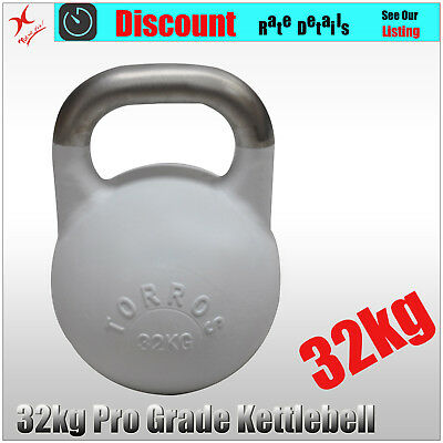 32kg TORROS Pro Grade Kettlebell Weight - Gym Use - Cross Fit Strength Training
