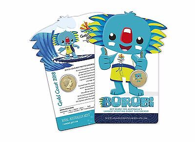 2018 Australia Commonwealth Games - Gold Coast $1 Coloured Coin - Borobi