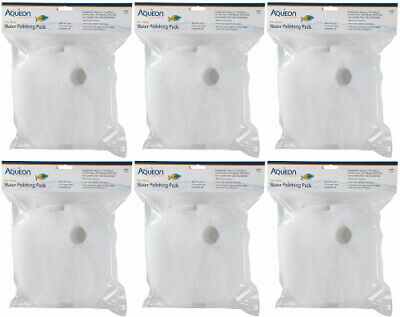 Aqueon Filter Media 24 Water Polishing Pads White, Large, 12ct (6 x 2ct)