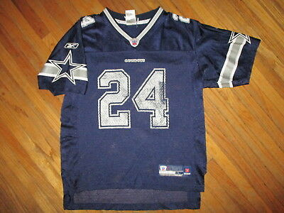 more photos 3611f a6a94 MARION BARBER DALLAS COWBOYS 24 JERSEY Football Reebok vtg Worn YOUTH LARGE