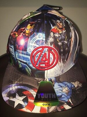 AVENGERS 3 Infinity War BLACK PANTHER HULK Thor movie NEW BOYS Youth HAT Cap