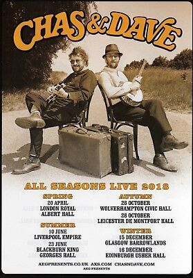 """Chas & Dave,  """"all Seasons Live 2018 Flyer."""