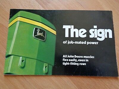 "Vintage John Deere ""The Sign"" brochure 4030 - 8630 2040-2640 tractors 1975 16pgs"