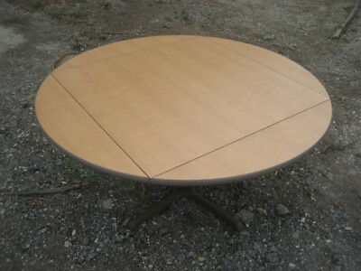 "9 60"" Round To 42"" Square Cafeteria  Restaurant Table Laminate Top & Metal Base"