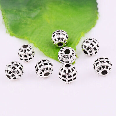 Wholesale Tibetan silver Round Loose Spacer Beads DIY Jewelry Making 6mm